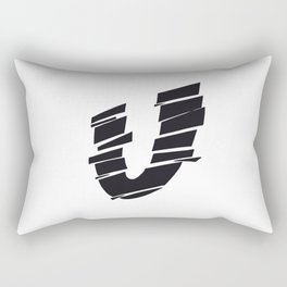 The Alphabetical Stuff - U Rectangular Pillow