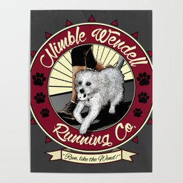 Nimble Wendell Running Co. (Contemporary Logo) Poster