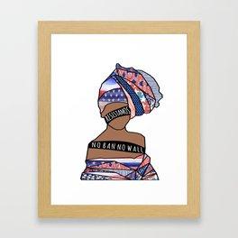 002- !RESISTAMOS! - No Ban No Wall Framed Art Print