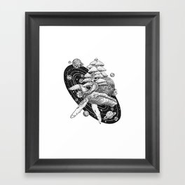 Space Whale Framed Art Print