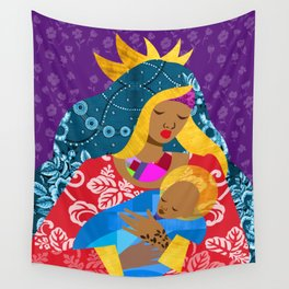 Virgin Mary and Child Wall Tapestry