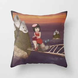 Mountains of the South West Throw Pillow