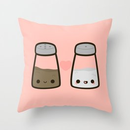 Cute salt and pepper Throw Pillow