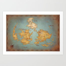 Gaia World Map- Final Fantasy VII Art Print