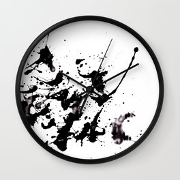 Like Pollock Wall Clock