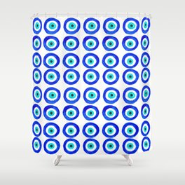 Evil Eye Amulet Talisman - on white Shower Curtain