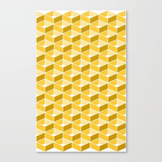 Simple Pattern Yellow Canvas Print