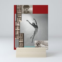 Nureyev Collage Portrait Mini Art Print
