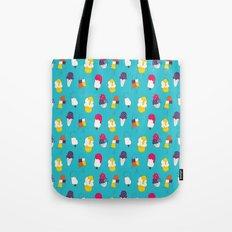 Ice cream pattern - blue Tote Bag