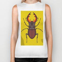 Stag Beetle Biker Tank