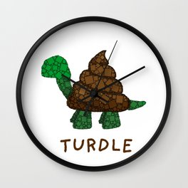 Turdle - Poop - Turtle - 57 Montgomery Art Wall Clock