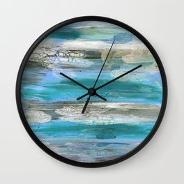 ROCK STUDY IN BLUES Wall Clock