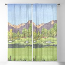 Indian Wells Golf Resort Celebrity Course Hole 16 Sheer Curtain
