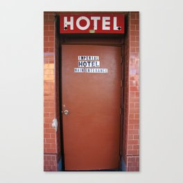 Main Entrance of Imperial Hotel in Lodi, CA Canvas Print