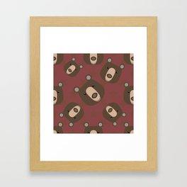 Pattern with bear Framed Art Print