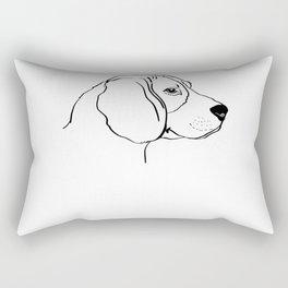 Beagle Dog Line Art Gift Idea Rectangular Pillow