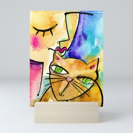 My Crazy Cat No. 3 by Kathy Morton Stanion Mini Art Print