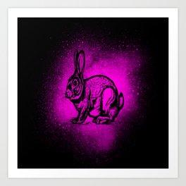 Cute Splash Pink Bunny Gift Idea Design Art Print