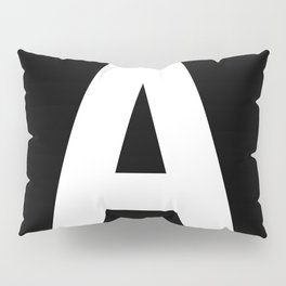 Letter A (White & Black) Pillow Sham