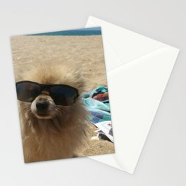 Dog At Beach Stationery Cards