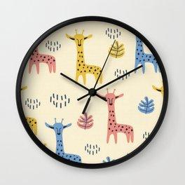 Savana Giraffe Wall Clock