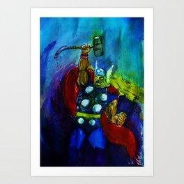Thunder God (Thor) Art Print