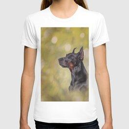 Drawing Doberman dog 2 T-shirt