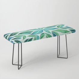 Summertime Blues Leaf Burst Bench