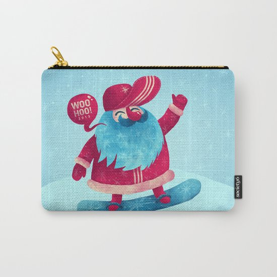Snowboard Santa Carry-All Pouch