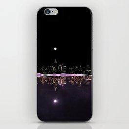 Moonlight In The City Skyline Design iPhone Skin