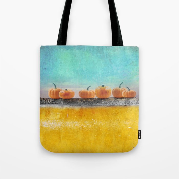 Pumpkins on a Wall Tote Bag