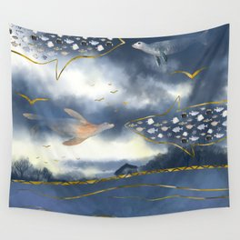 Surreal Snowstorm Wall Tapestry