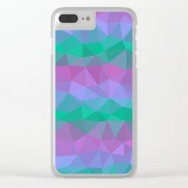 Jewel Tone Stripes Clear iPhone Case