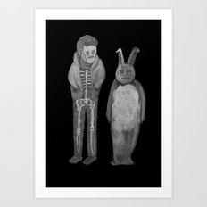 Zombies in my backyard: Donnie Darko Art Print
