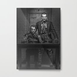 The Jokers in black and white Metal Print
