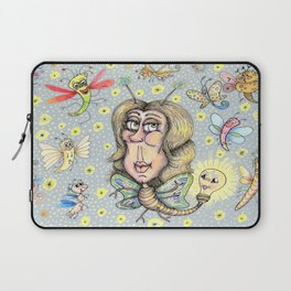 quirky fantasy bioluminescent butterfly girl and friends Laptop Sleeve