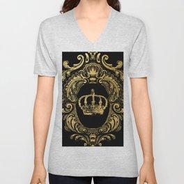 Gold Crown Unisex V-Neck