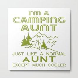 Camping Aunt Metal Print