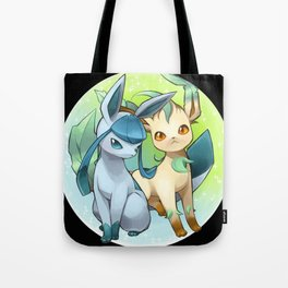 Leafeon & Glaceon Tote Bag