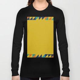 Geometric Square Border Pattern Long Sleeve T-shirt