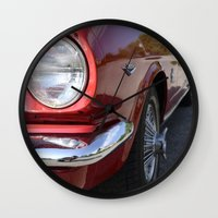 mustang Wall Clocks featuring Mustang by Inphocus Photography