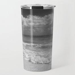 Black and White Beach Travel Mug