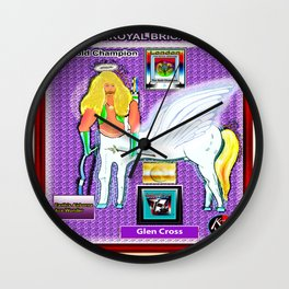 THE GOLD CHAMPION Wall Clock