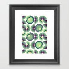 Green Fields Pattern Framed Art Print