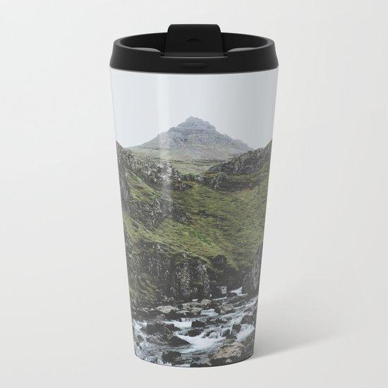 Mjóifjörður, Iceland II Metal Travel Mug