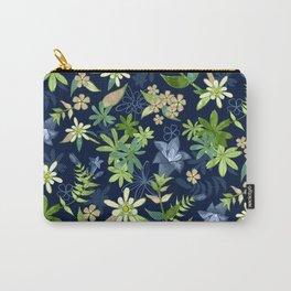 Alpine Flowers Blue - Gentian, Edelweiss Carry-All Pouch