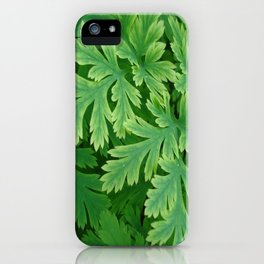 Vibrant green leaves iPhone Case