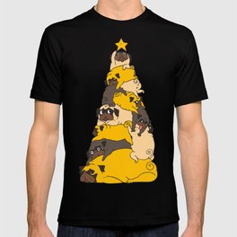 Christmas Tree Pugs T-shirt