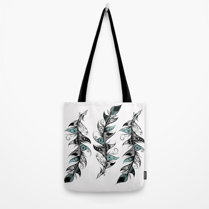 Poetic Feather Tote Bag