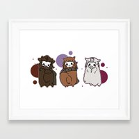 nori Framed Art Prints featuring Dwarpaca family #3 by Lady Cibia